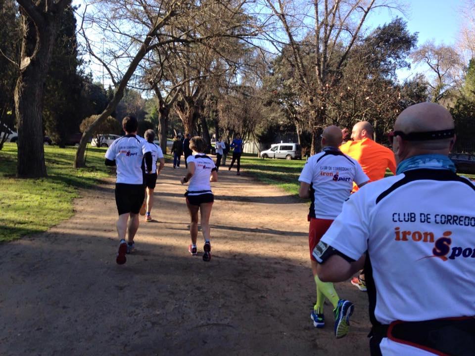 Entrenamiento en Grupo de Running del Club de Corredores en Tres Cantos